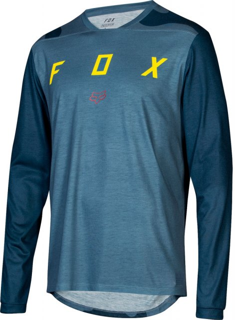 Fox Indicator LS Mash Camo Jersey Blue Steel