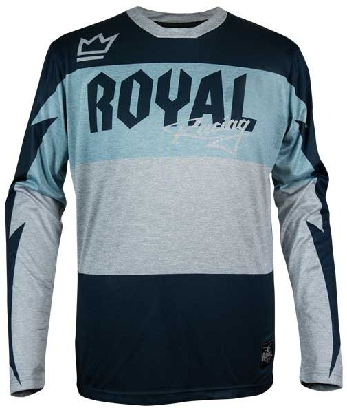Royal Race Jersey LS 2019 Blue / Grey Heather
