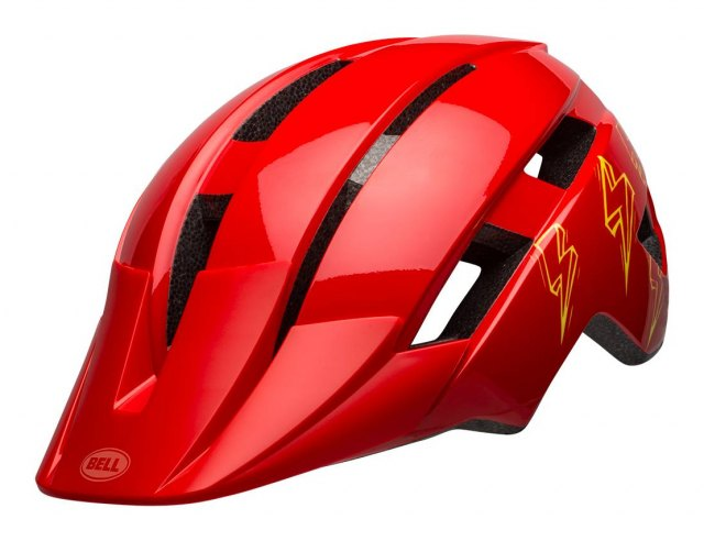 Bell Sidetrack II Helmet Child Bolts Gloss Red