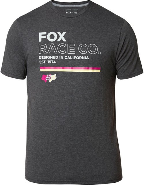 Fox Analog SS Tech Tee Heather Black