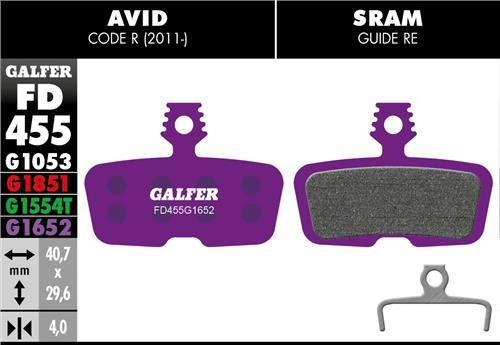 Galfer Brake Pads Sram Code - E-Bike Compound