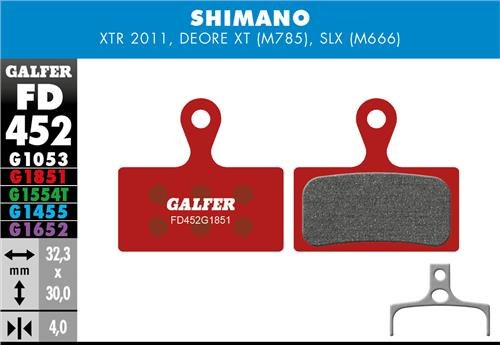 Galfer Brake Pads Shimano XT / XTR - Advanced Compound