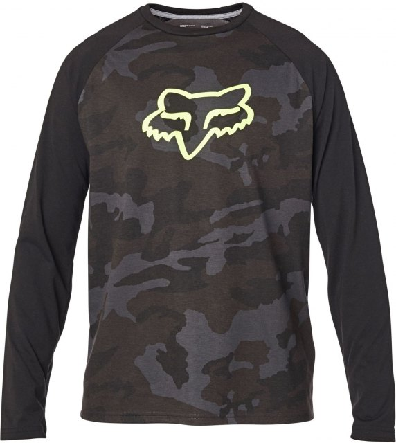 Fox Tournament LS Tech Tee FA20 Black Camo