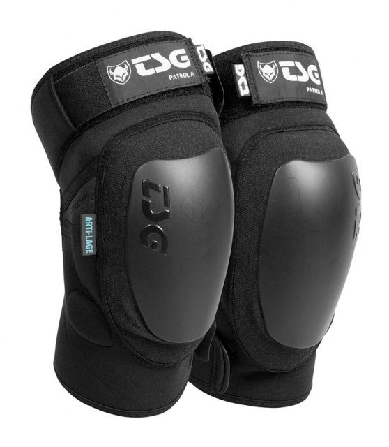 TSG Patrol A Knee Guards Black Front