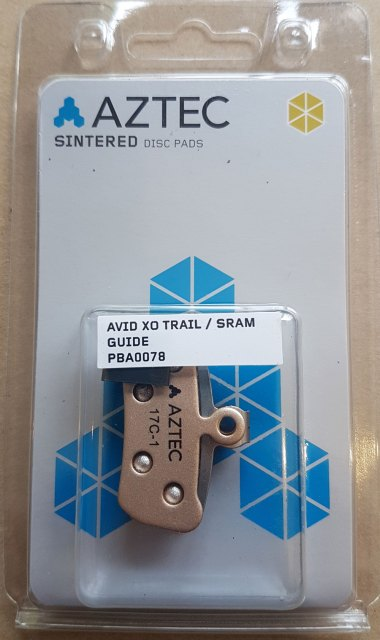 Aztec Sintered Disc Brake Pads SRAM Guide