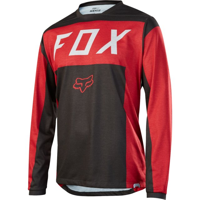 Fox Indicator LS Moth Jersey Red / Black Front