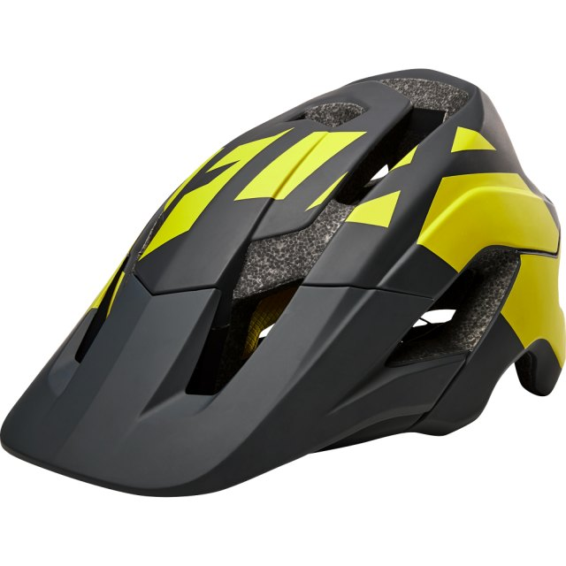 Fox Metah Thresh Helmet Black / Yellow Front