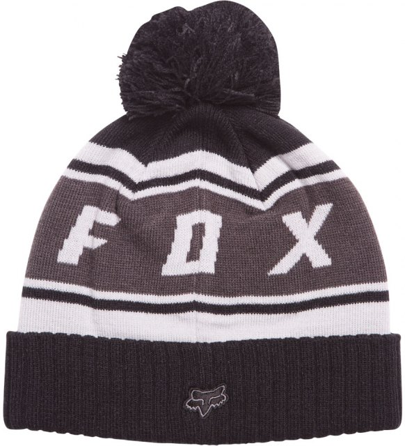 Fox Black Diamond Pom Beanie Black