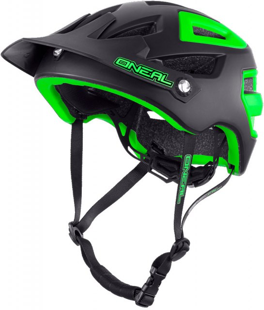 O'Neal Pike Helmet Black/Green Front